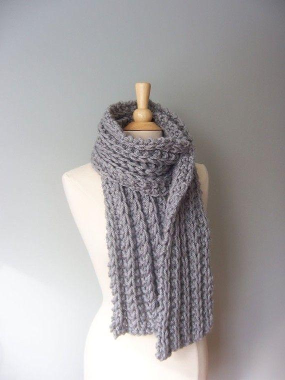Knit Scarf Pattern Chunky Scarf Pattern Easy Knit Pattern Womens