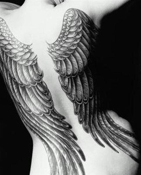 tatouage ange femme dos. Black Bedroom Furniture Sets. Home Design Ideas