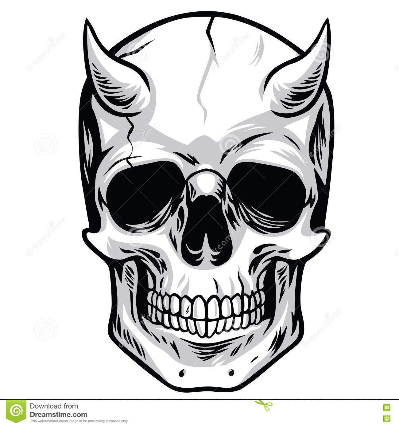 thumbs dreamstime z demon head skull vector