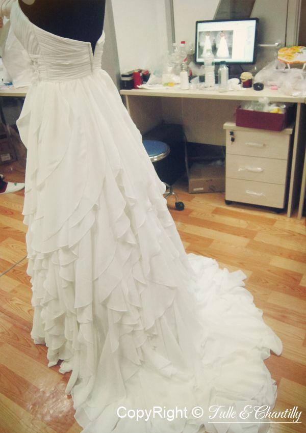 Process Show Time} Hand-made Chiffon Bridal Dress   Pinterest