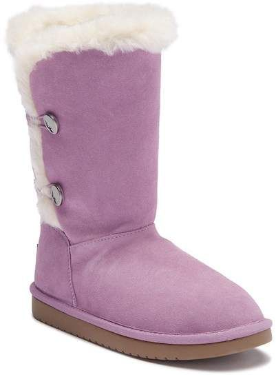 f535427cce7 Kinslei Tall Suede Genuine Shearling Boot (Little Kid & Big Kid ...