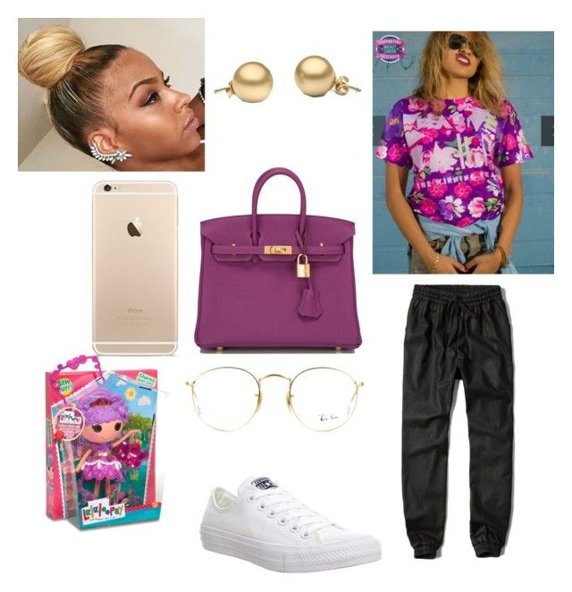 """""""Went 2 the store"""" by slayday ❤ liked on Polyvore featuring Abercrombie & Fitch, Hermès, Converse, Ray-Ban and Lalaloopsy"""
