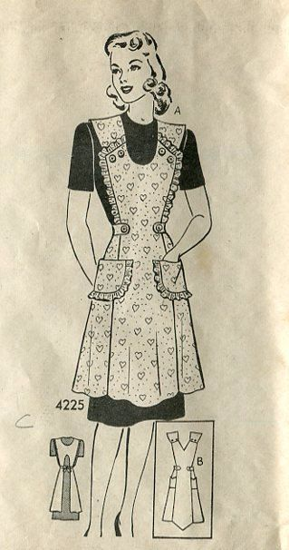 1940s Vintage Mail Order Apron Pattern Anne by PengyPatterns, $25.00