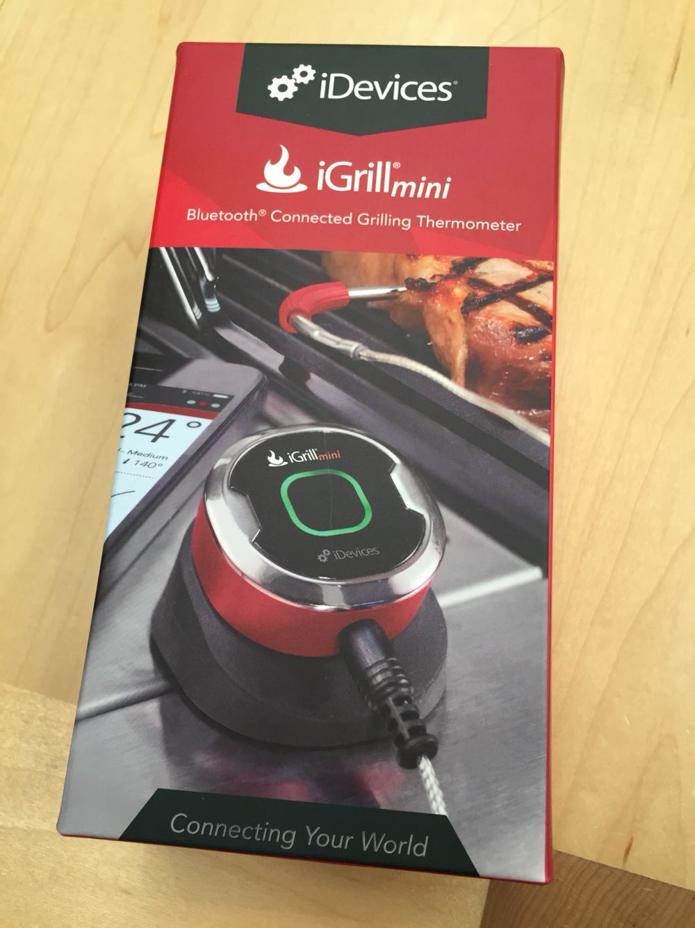 The iGrill Mini. I found this at the Apple store. 39.95
