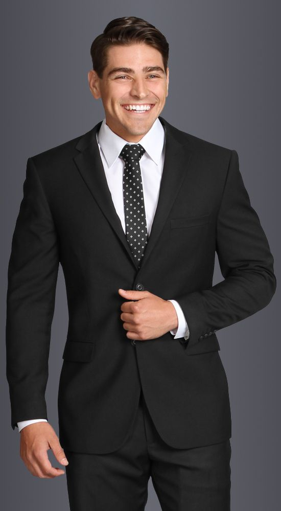 Black Modern Suit available in ultra slim, slim, or classic fit. 2 ...