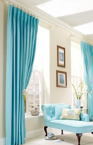 Terra'a Turquoise Cottage  ~**terra's Turquoise Cottage Best Teal Living Room Curtains Decorating Inspiration