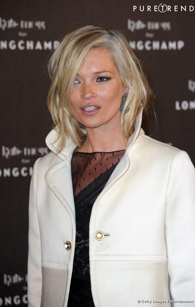 PHOTOS Coiffure visage carré Kate Moss fait une