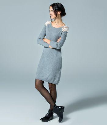 Womens Vestido Guipur Dress Springfield Big Sale Online oXJ6vgrC
