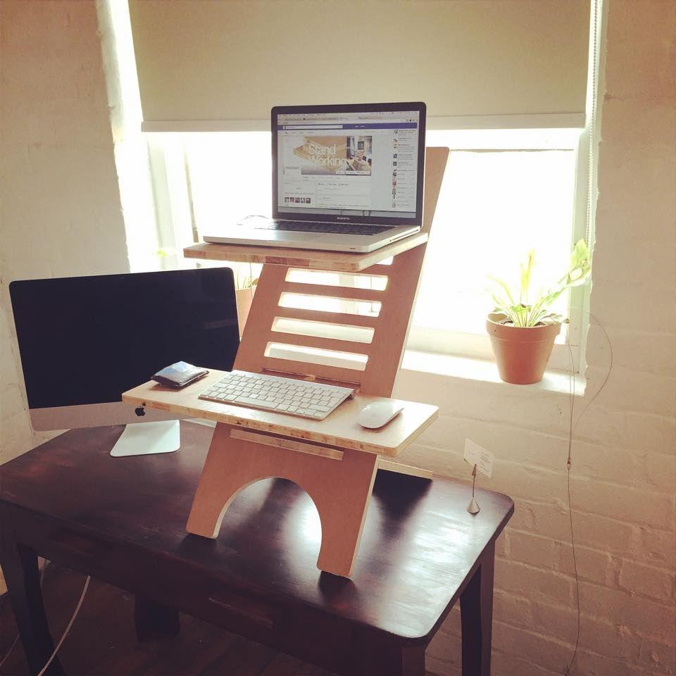 Deskstand Standing Desk Cape Town Www Deskstand Co Or Www Facebook Thedeskstand To Purchase Standing Desk Stand Design Desk