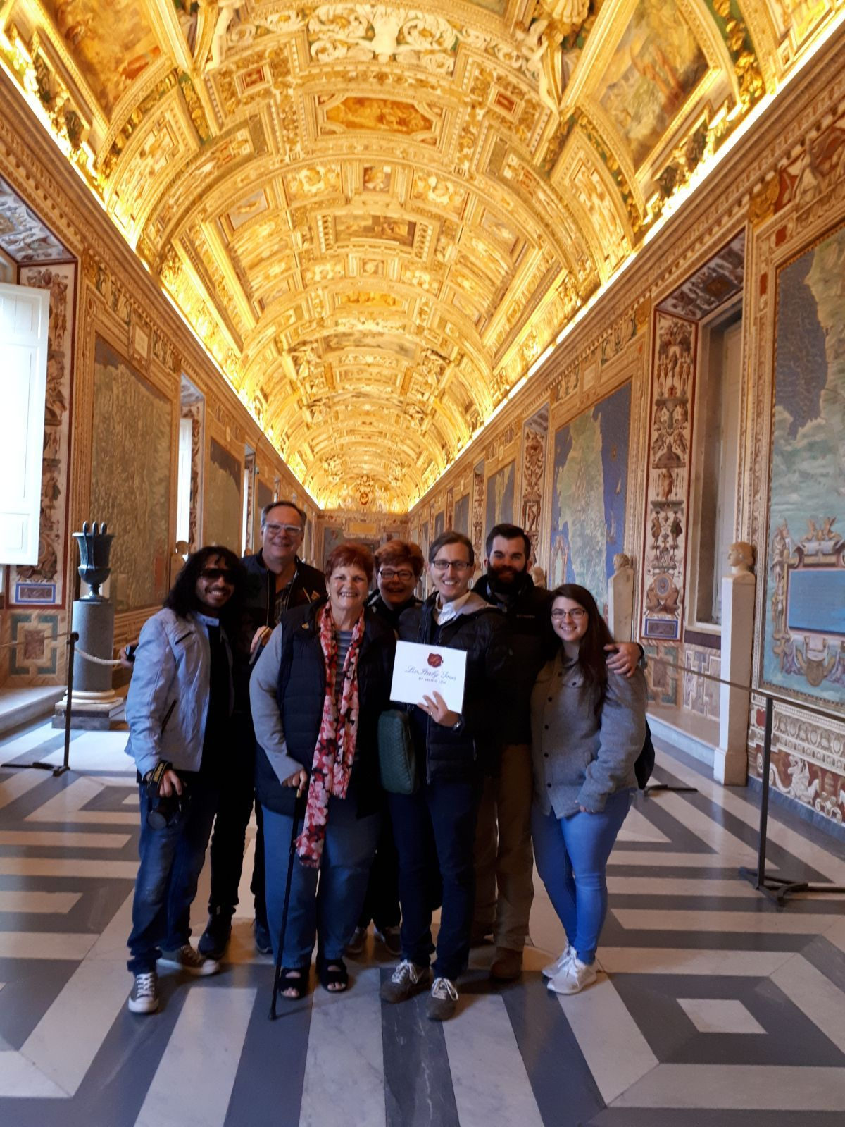 Our clients and our guide Davide in an almost empty Gallery of Maps in the Vatican Museum on November 14th! We are so happy that our clients got to skip the lines and visit the masterpieces in the museum before the busy afternoon. For more information about our Vatican Early Entrance Small Group Tour: www.livitaly.com/tour/early-entrance-vatican-small-group-tour/?src=pinterest