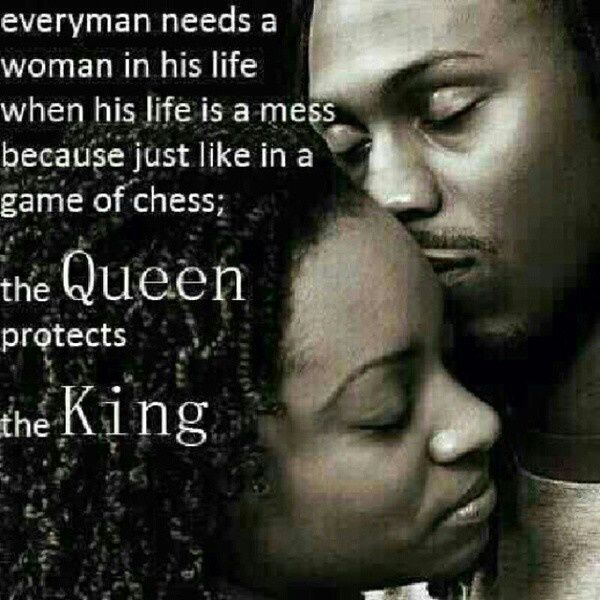 Black Love Quotes Inspiration Black King And Queen Art Queen Protects Her King Carriesheely