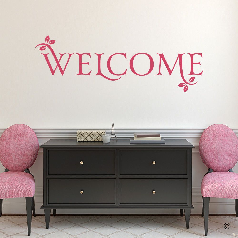 Welcome vinyl wall decal quote fits nursery bedroom more l