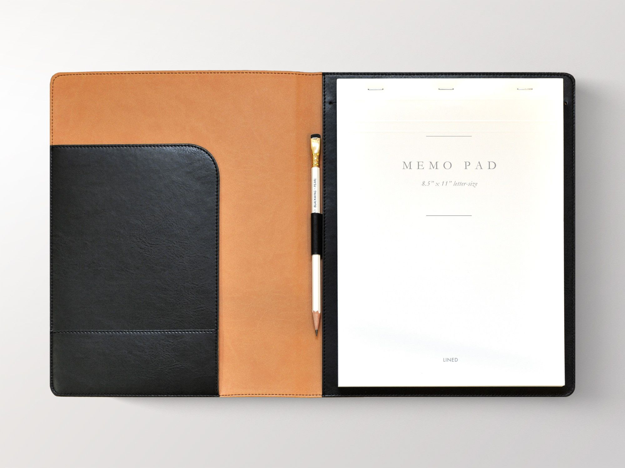 Sleek Padded Italian Leather Padfolio With Custom Logo Jb Custom