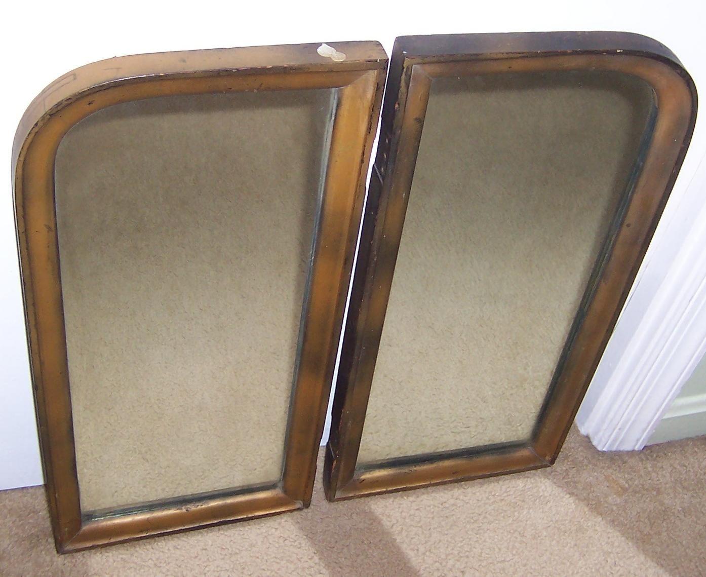 Two vintage vanity mirrors vintage vanity