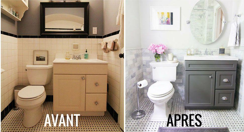 Avant / Après  La salle de bains gagne en luminosité ! - M6 Avant