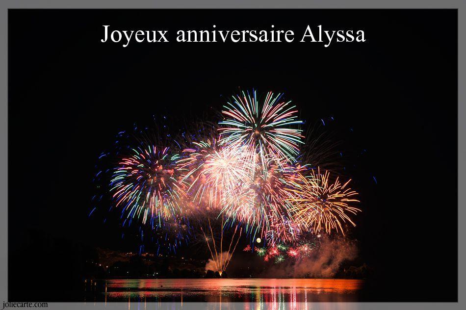 Joyeux Anniversaire Alyssa Joliecarte Com Alyssa Ethan Noham