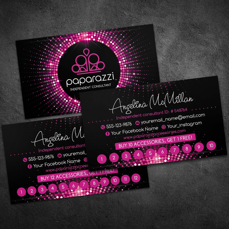 760bf91c33013 Paparazzi loyalty cards, paparazzi business cards, paparazzi card ...
