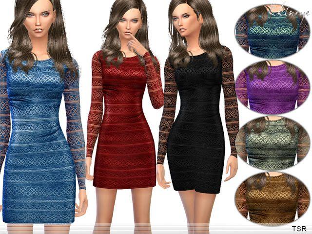 Sims 4 CC's - The Best: Dress by Ekinege