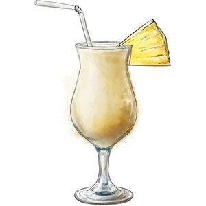 Pina Coladas To Take Advantage Of The Joys Of Summer Cocktails Drawing Pina Colada Pina Colada Song