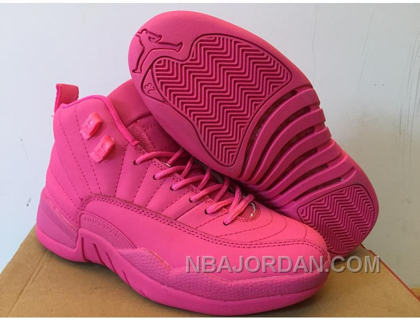 low priced fffb3 ec402 NEW AIR JORDAN 12 GS ALL PINK SHOES LASTEST Only  93.00 , Free Shipping!