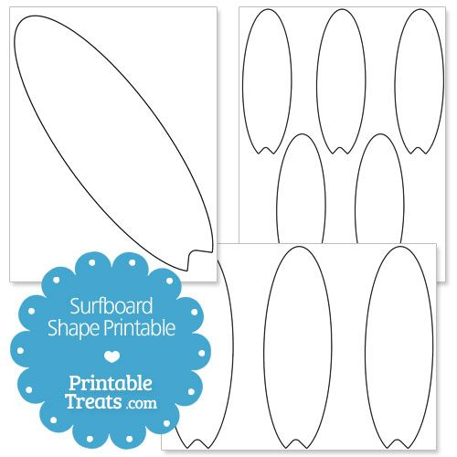 Surfboard pattern. Use the printable outline for crafts, creating