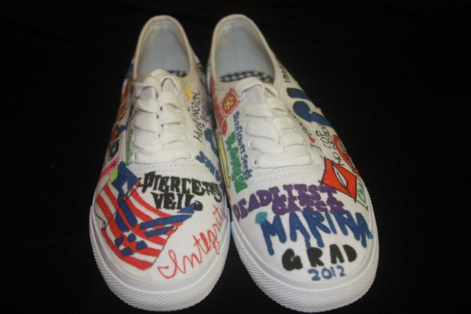My shoes I did for my friend. Just a white shoe and you draw