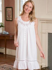 361f9a19 Eileen West Moonlight Sonata Short Cotton Nightgown | comfy nite ...
