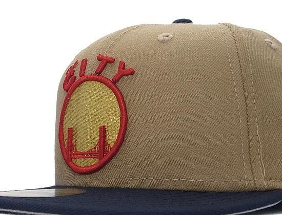 931cd6140cc NEW ERA x NBA「Golden State Warriors Khaki-Navy」59Fifty Fitted Baseball Cap