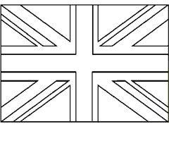 Coloriage Union Jack English Icons Soldier Silhouette Union Jack