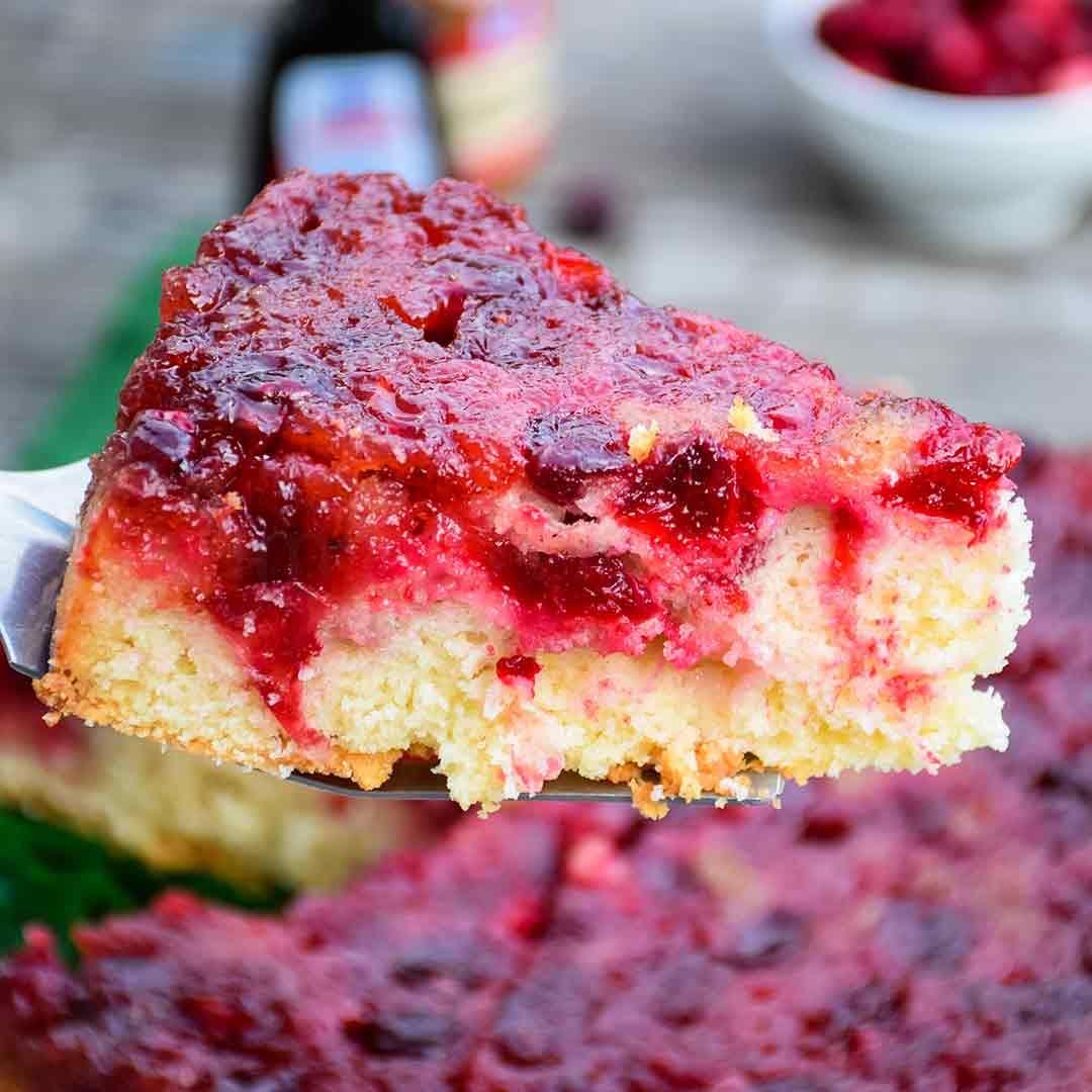 Cranberry Upside Down Cake Recipe Cranberry upside
