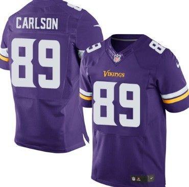 nike minnesota vikings 89 john carlson 2013 purple elite jersey