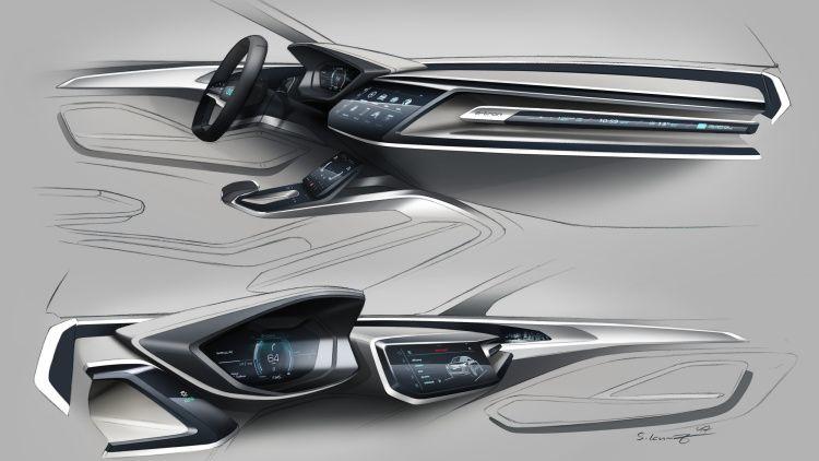 Audi E Tron Sportback Concept Previews 2019 Production Model In 2020 Concept Car Interior Concept Car Interior Sketch Car Interior Design
