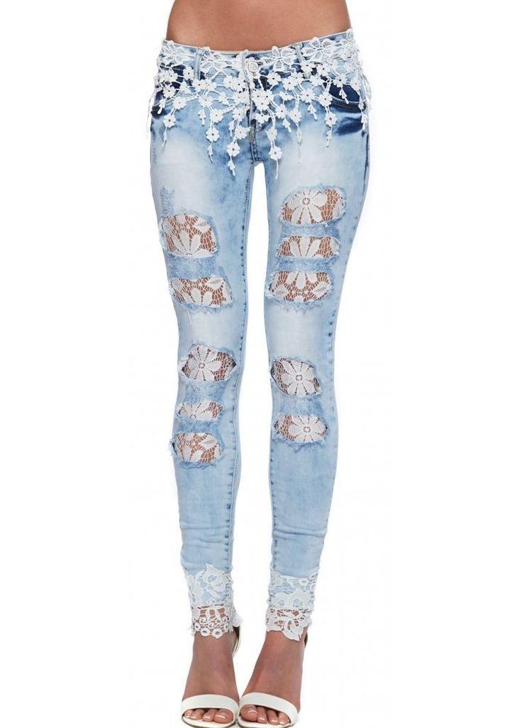 Resultado de imagen para pantalones de jeans con apliques ...