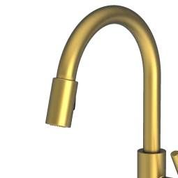 Newport Brass East Linear Pull Down Spray Kitchen Faucet With Magnetic  Antique Copper Faucet Kitchen Single Handle
