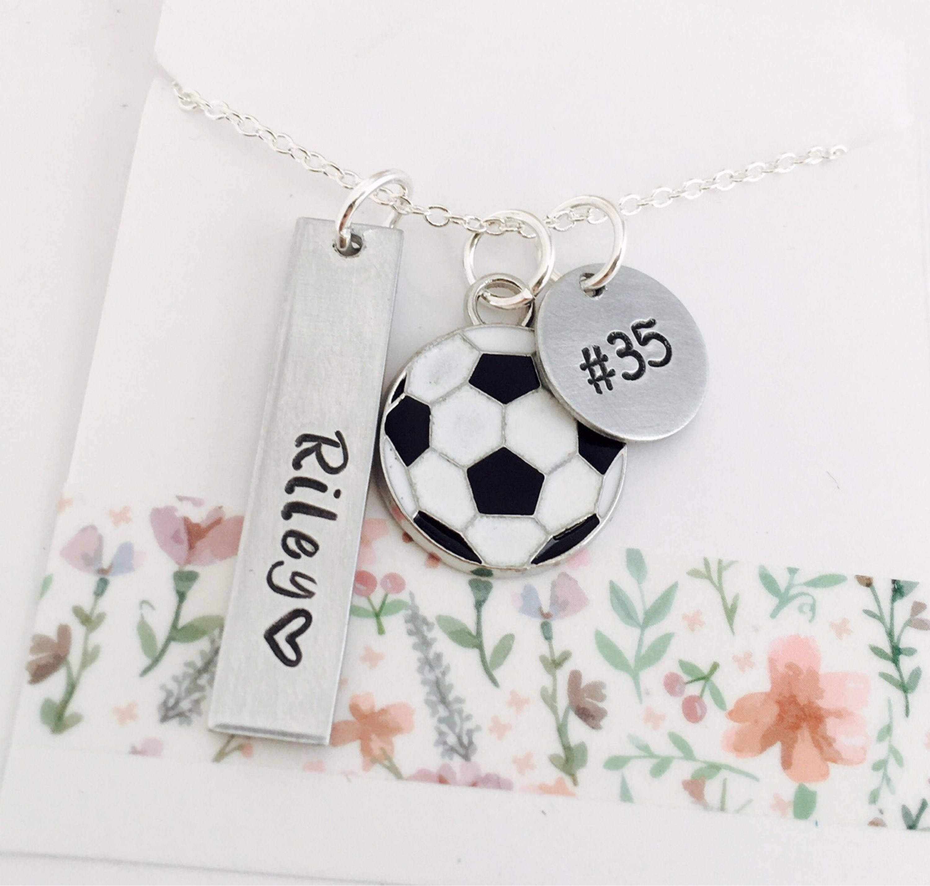 name soccer necklace charm plated jewelry pendant gold namefactory