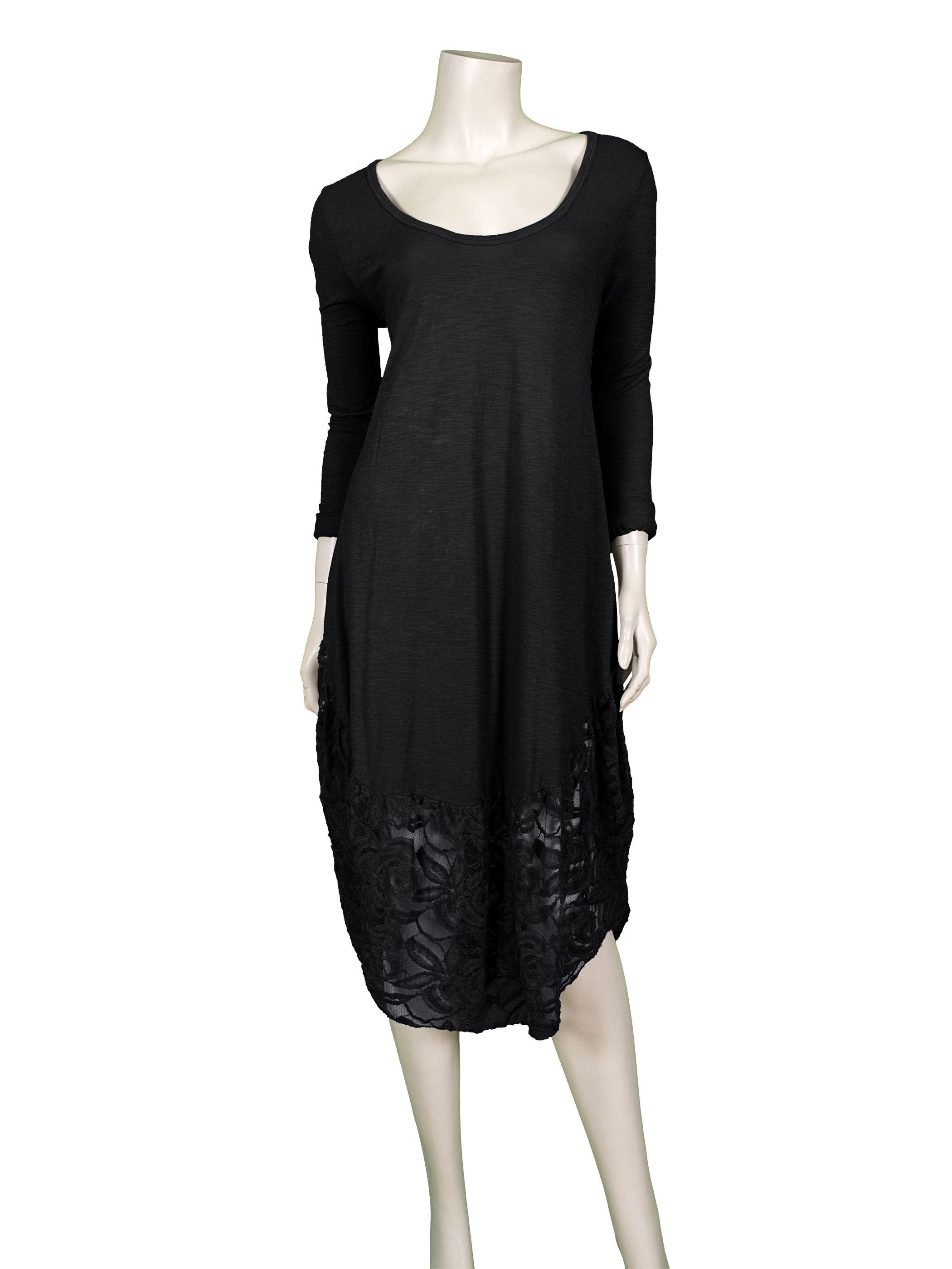 Kleid mit Spitze, schwarz - Online Shop meinkleidchen.de ...