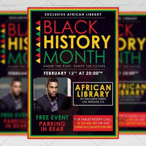 Community A Flyer Template  Black History Month Event  Graphics