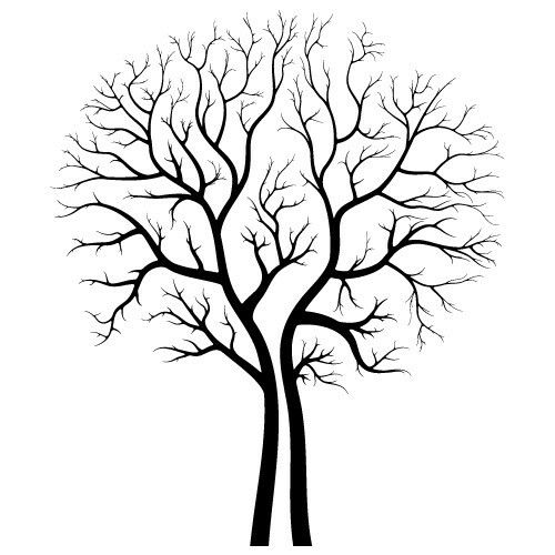 Leafless Autumn Tree Design Vector In Eps And Svg Formats
