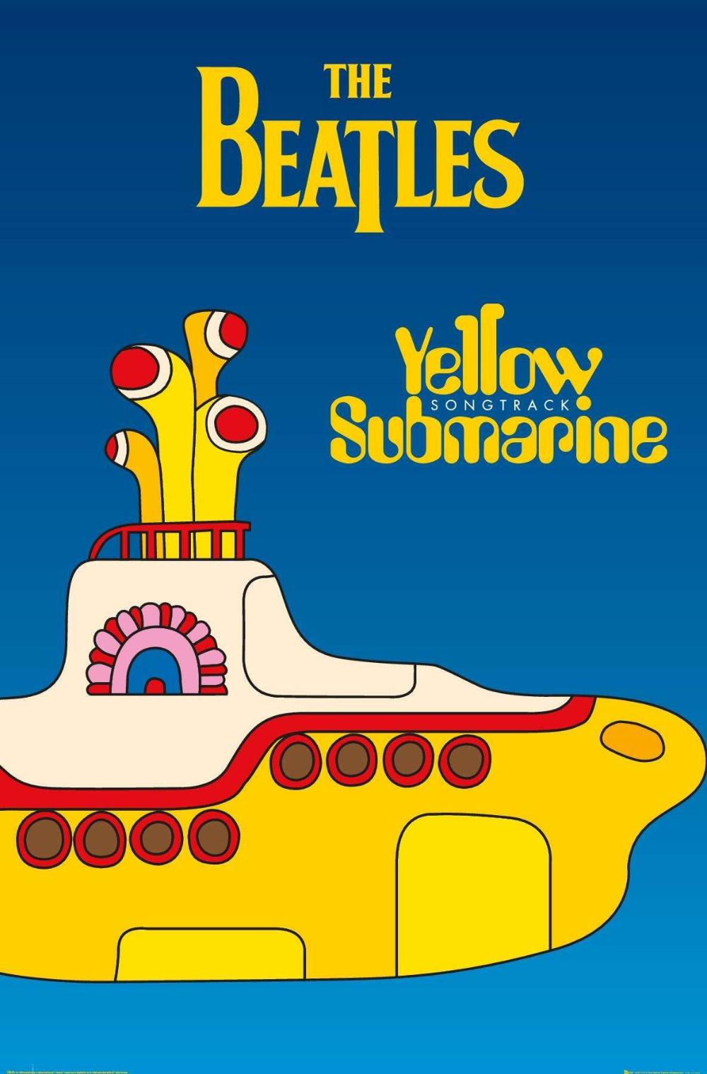 24x36 The Beatles Yellow Submarine Yellow Submarine Movie Beatles Yellow Beatles Albums