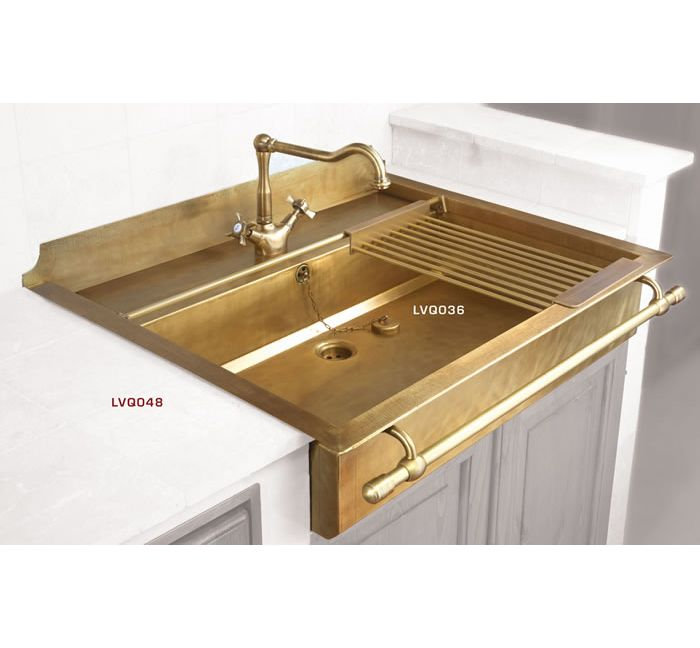brass kitchen sink pantry cabinet plans stylish sinks with a retro look h u s more