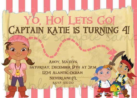 jake and the neverland pirates birthday invites.