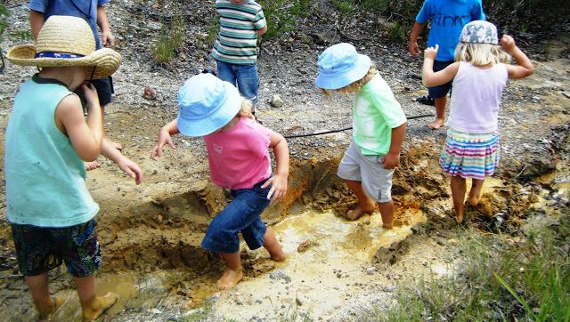 let the children play: 7 tips for mud play at preschool: reclaim mud play, it's just as important as sand and water play and has its own unique texture and properties. A good collection of ideas for different contexts and opportunities for mud play.