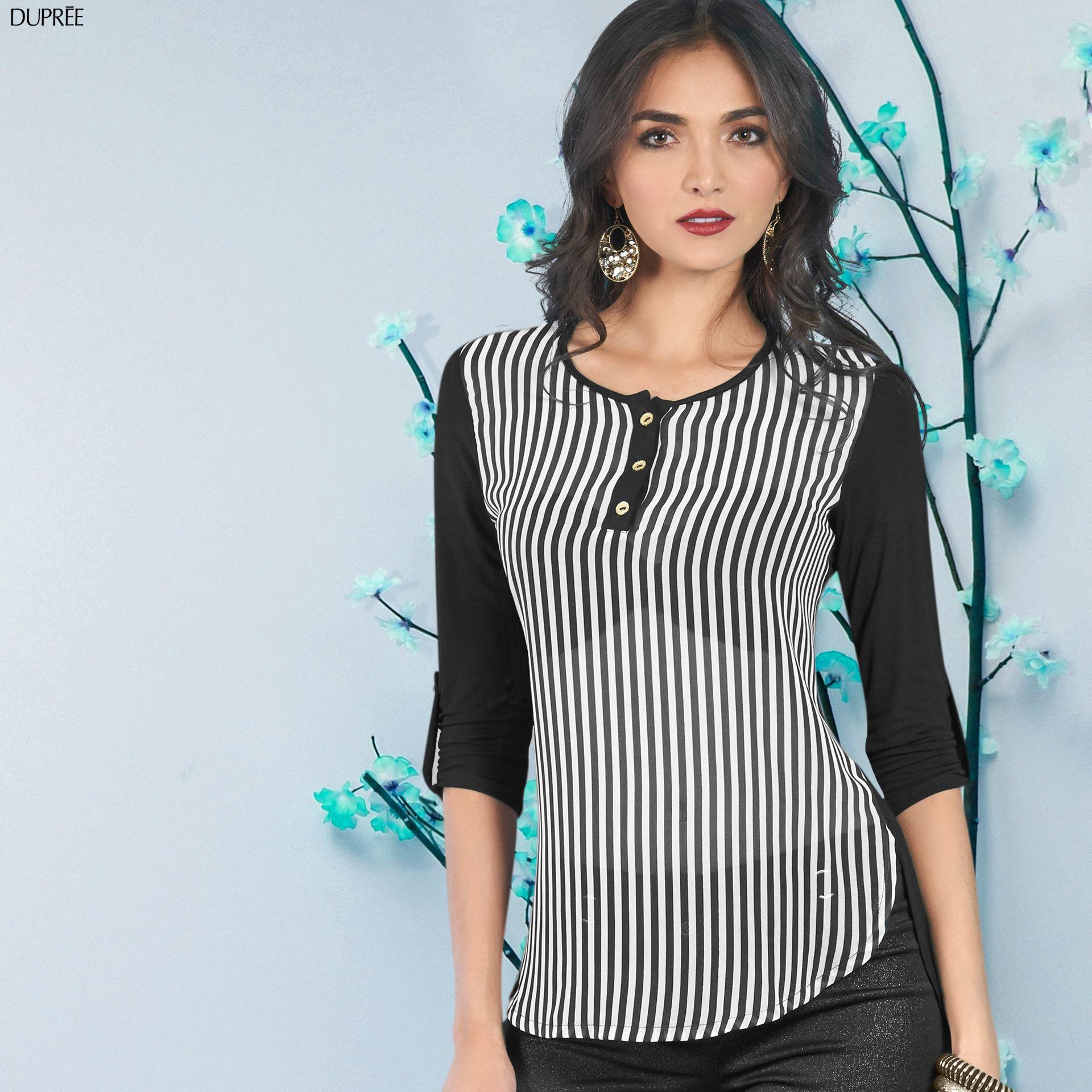 187fcbcd63 Blusas a rayas negras y blancas. Moda mujer Duprée
