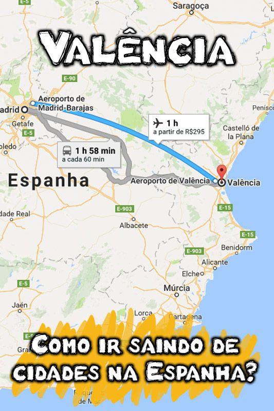 Como Chegar Em Valência A Partir De Cidades Espanholas Valencia Espanha Aeroporto De Madrid Valencia