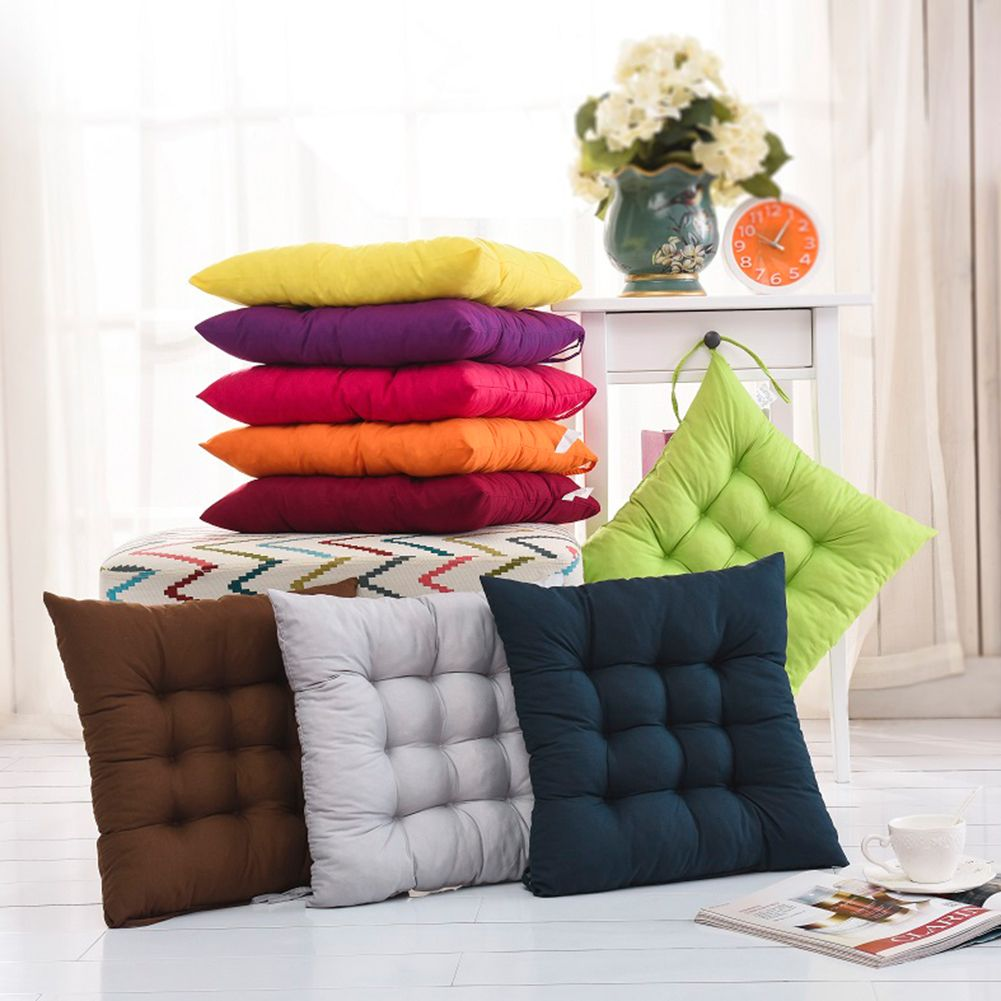 40x40cm Chair Pad Decor Outdoor Seat Cushions Home Indoor Square Cushion Soft