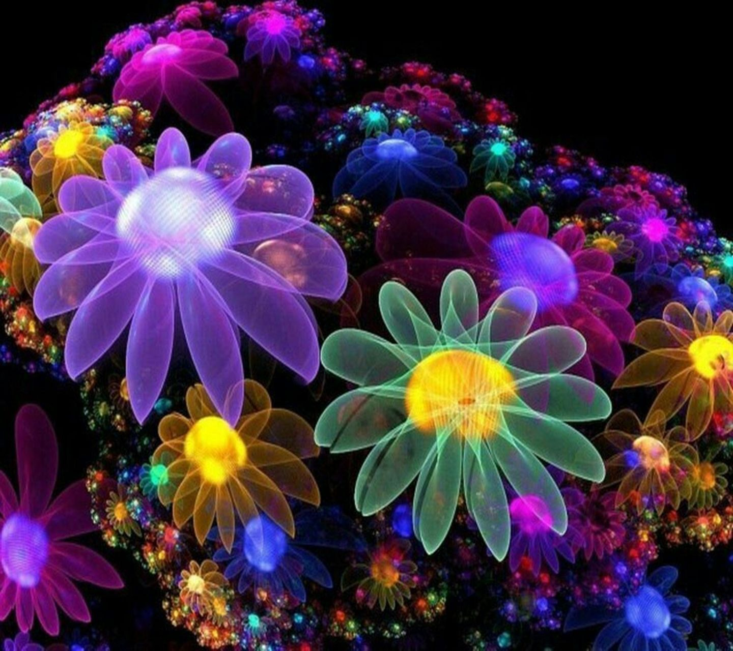 neon flower wallpapers / wallpaper flowers 325 high quality
