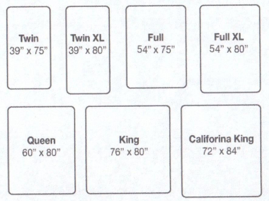 California King Size Mattress Dimensions In 2020 Mattress Size Chart Mattress Dimensions King Size Mattress Dimensions