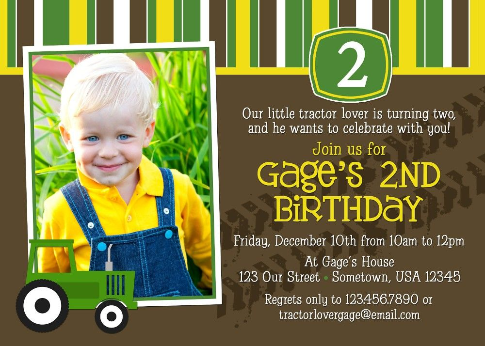 Invitations Affordable Kids Birthday Party Ideas Personalized John Deere