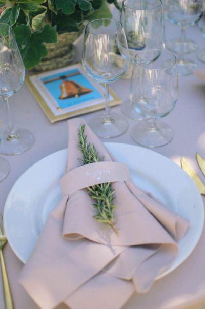 another rosemary napkin treatment