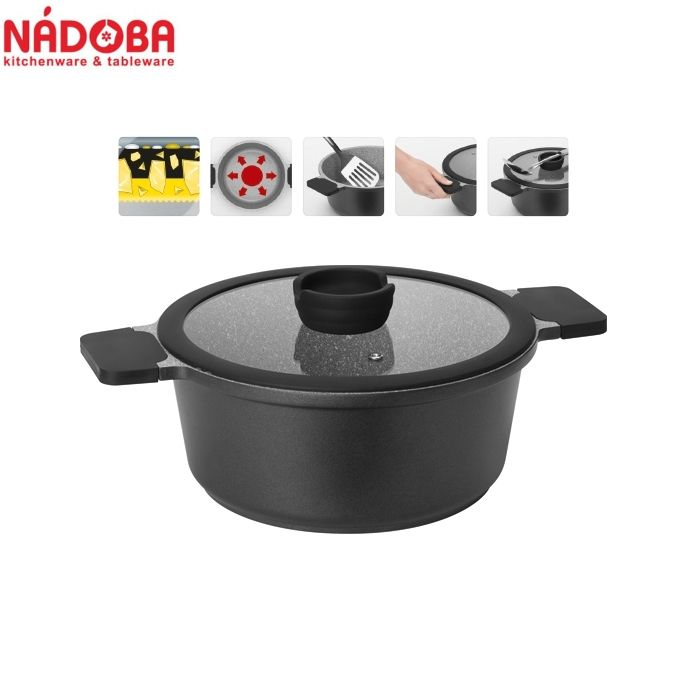 Pan With Non Stick Coating With Lid 24cm 42 L Nadoba